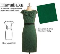 WAAAY too many dresses to choose from.  Pattern + fabric swatches/links to help you make any of example dresses.  Sweet!