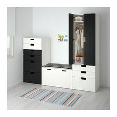 STUVA Aufbewahrungskombi - weiß/schwarz - IKEA