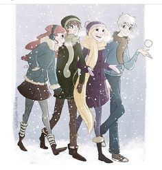 I love how Rapunzel's scarf is her hair.