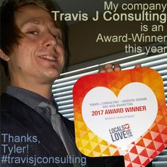 """Award-Winner, Travis J Consulting  @travis ranks 2nd among """"Website Development"""" companies in Tyler, TX; according to the most recent citywide """"Locals Love Us"""" voting for local businesses in Tyler, TX!  Don't forget that Travis J Consulting is also A+ Accredited by the Better Business Bureau! So if you know someone who needs a Web-Presence, or could use help on whatever Web-Presence they have, you should send them Travis J's way, at www.ktravisj.com !  God bless!"""