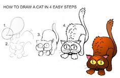 Daryl Hobson Artwork: How To Draw A Cat In Four Easy Steps