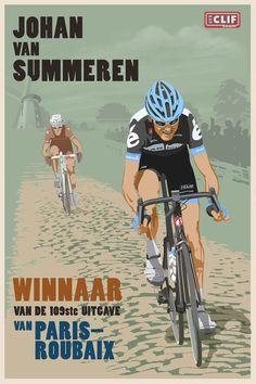 juergvollmer: Velo Illustration 103: «Paris-Roubaix» by Steve...