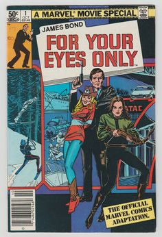 James Bond For Your Eyes Only comic book Marvel by GrrlPickers