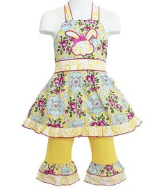 Loving this Yellow Bunny Top & Pants - Infant, Toddler & Girls on #zulily! #zulilyfinds