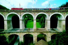 UNESCO Worldheritage Semmering Railway Trains, Visit Austria, Central Europe, Salzburg, Brooklyn Bridge, Alps, Great Artists, Wilderness, Places To Go