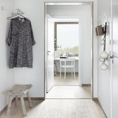entry. white and wooden.