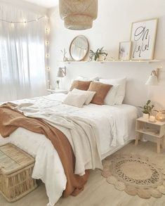 Room Design Bedroom, Room Ideas Bedroom, Home Decor Bedroom, Bedroom Inspo, Bohemian Bedroom Decor, Boho Teen Bedroom, Woman Bedroom, Stylish Bedroom, Decor Room