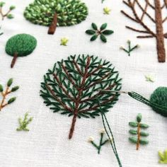 Online shopping from a great selection at Arts, Crafts & Sewing Store. Learn Embroidery, Shirt Embroidery, Silk Ribbon Embroidery, Modern Embroidery, Cross Stitch Embroidery, Hand Embroidery Tutorial, Hand Embroidery Designs, Embroidery Patterns, Diy Broderie