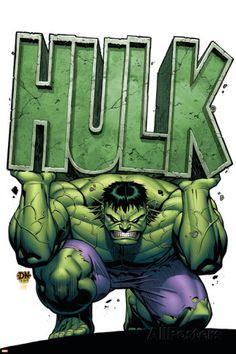 Marvel Adventures Hulk Cover: Hulk Stretched Canvas Print by David Nakayama at - - Hulk Marvel, Marvel Comics, Hulk Comic, Marvel Art, Marvel Heroes, Marvel Canvas, Thanos Hulk, Hulk Avengers, Hulk Smash