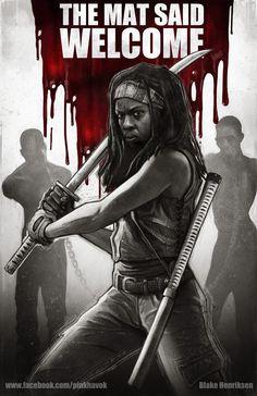 Michonne - The Walking Dead - Blake Henriksen