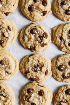 The Easiest Chocolate Chip Cookies - Katiebird Bakes - Chocolate Recipes Delicious Cookie Recipes, Easy Cookie Recipes, Sweet Recipes, Delicious Food, Tasty, Salted Chocolate Chip Cookies, Chocolate Recipes, Healthy Chocolate, Lemon Cookies