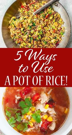 Rice really is a make-ahead food. Make more than you need for Monday's dinner, and you've got enough left for soup, salads, curries, and other rice-based dishes. It keeps well and just requires a little finesse to use again and again. Rice Recipes, Pasta Recipes, Soup Recipes, Whole Food Recipes, Cooking Recipes, Leftovers Recipes, Simply Recipes, Instant Pot Pressure Cooker, Good Healthy Recipes