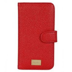 Dolce & Gabbana Red Leather Smartphone Case (310 CAD) ❤ liked on Polyvore featuring accessories, tech accessories, tech, phone, phone cases, case and dolce&gabbana