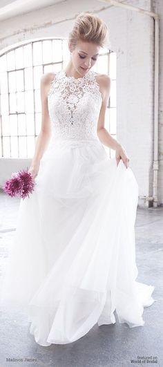 Madison James Spring 2016 Wedding Dresses - World of Bridal Spring 2017 Wedding Dresses, Bohemian Wedding Dresses, Long Wedding Dresses, Wedding Dress Styles, Wedding Gowns, Wedding Venues, Dress Vestidos, Dresses Dresses, Color Naranja