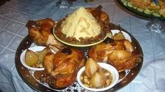 Recette Marocaine - Timeline   Facebook Morrocan Food, Moroccan Dishes, Food Decoration, Couscous, Chicken Wings, Catering, Pork, Food And Drink, Yummy Food
