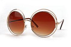 70s Muse Round Circle Oversize Sunglasses   Pretty Attitude {White Label}   $14.90