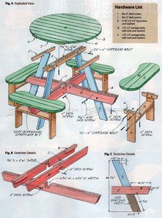 Build Picnic Table - Outdoor Furniture Plans