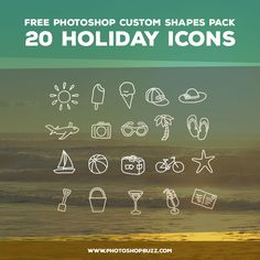 20 Holiday Icons - Free Custom Shapes