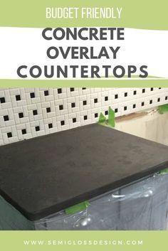 Concrete Overlay Countertops, Solid Surface Countertops, Stainless Steel Countertops, Butcher Block Countertops, Laminate Countertops, Concrete Kitchen Countertops, Painting Tile Countertops, Black Countertops, Mosaic Backsplash