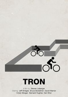 Tron Minimalist Movie Poster