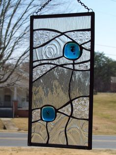 Clear & Blue Stained Glass