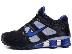 Chaussures Nike Shox Turbo Noir/ Bleu/ Argent [nike_12463] - €45.85 : Nike Chaussure Pas Cher,Nike Blazer and Timerland  http://www.facebook.com/pages/Chaussures-nike-originaux/376807589058057  http://www.topchausmall.com/