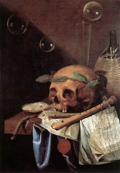 Simon Renard de Saint Andrè: Vanitas, ca 1650 / Lione, Musée des Beaux-Arts Dance Of Death, Beaux Arts Lyon, Canvas Art Prints, Oil On Canvas, Memento Mori Art, Vanitas Paintings, Gustav Klimt, Vanitas Vanitatum, Canvas Art