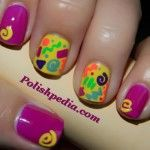 Neon 90s Nails