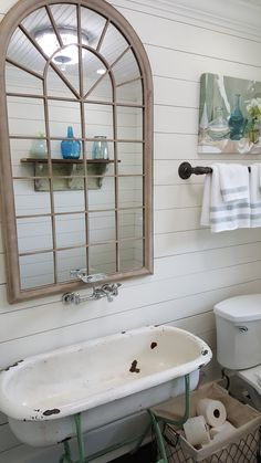 New Baby Badewanne Diy Waschküche 35 Ideen Primitive Bathrooms, Rustic Bathrooms, Chic Bathrooms, Beach Bathrooms, Small Bathroom Sinks, Bathroom Storage, Modern Bathroom, Bathroom Basin, Bathroom Ideas