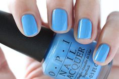 OPI New Orleans Rich Girls And Po-Boys Blue Cream Nail Polish - Summer Nails