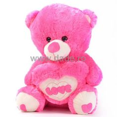 Ursulet de plus roz D-12-big Teddy Bear, Teddy Bears
