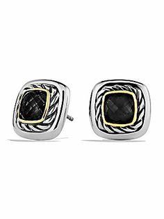 David Yurman Black Onyx, 18K Yellow Gold & Sterling Silver Earrings