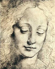 Leonardo da Vinci - Head of a Young Girl