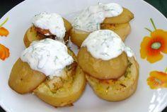 Retete Culinare - Cartofi noi umpluti la cuptor