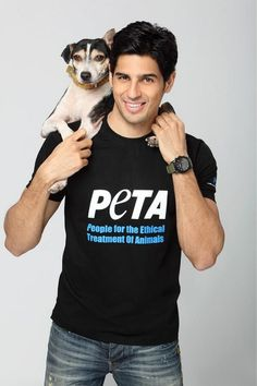 Indian actor Sidharth Malhotra, in a PETA campaign promoting dog adoption. Bollywood Photos, Bollywood Stars, Bollywood News, Indian Celebrities, Bollywood Celebrities, Crazy Celebrities, Indian Actresses, Actors & Actresses, Smart Men