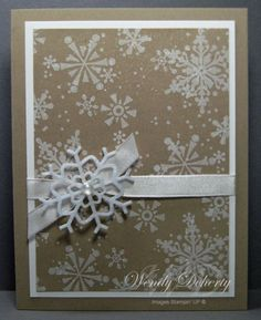 Snowflake Christmas card!