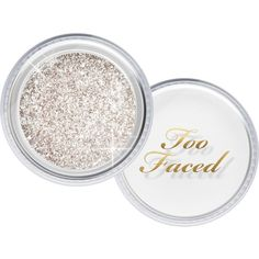 TOO FACED Tis' the Season to Sparkle glitter set ❤ liked on Polyvore featuring home, home decor, holiday decorations and too faced cosmetics