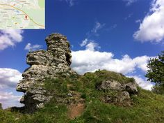 Skałka w Bolęcinie, która w składzie ma wapienie krystaliczne zbudowane z glonów morskich. Pomnik przyrody nieożywionej. Ze skałki ładny widoczek na okolicę.