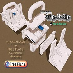diy GRR-Ripper clone, will be making these bad boys very soon Woodworking Workshop, Woodworking Jigs, Carpentry, Woodshop Tools, Diy Workbench, Homemade Tools, Diy Tools, Scrap Wood Projects, Diy Workshop