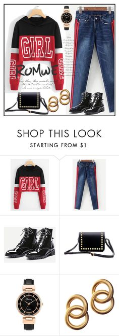 """ROMWE: WIN $35 COUPON"" by aazraa ❤ liked on Polyvore featuring Laura Lombardi"