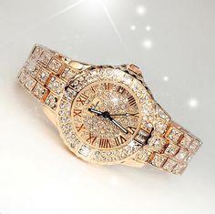 $25.78 - Awesome 2017 New Women Rhinestone Watches Lady Dress Women watch Diamond Luxury brand Bracelet Wristwatch ladies Crystal Quartz Clocks - Buy it Now!