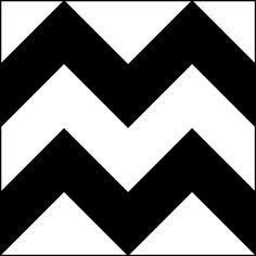 Zigzag - in your face Chevron Patterns, Stencil Patterns, Zig Zag Pattern, Tile Patterns, Black Pattern, Baby Flash Cards, Overlays, Chevron Stencil, Quilting Designs
