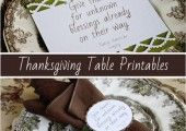 Thanksgiving Table Printable and Tutorial - Finding Home