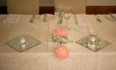 Main table - decor and floral elements added. Floral Design & Decor by www.pinkenergyfloraldesign.co.za Bridal Table, Floral Design, Tables, Table Decorations, Pink, Mesas, Floral Patterns, Pink Hair, Roses
