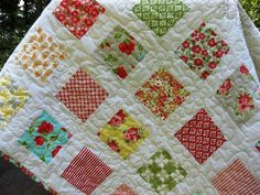 Sweetness Handmade Baby Quilt by BsTextiles on Etsy, $139.00