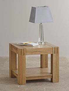 Alto Natural Solid Oak Side Table The Alto Natural Solid Oak Side Table is inspired by cubist design and crafted from solid oak. The Alto collection is characterised by solidly crafted finger joints.