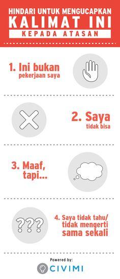 HINDARI untuk Mengucapkan 4 Kalimat Ini Pada Atasan (Infographic)