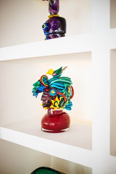 Glass art sculptures at Casa Angelina Lifestyle Hotel in Praiano Italy, The Taste SF
