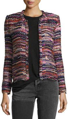 IRO Namantha Multi-Boucle Long-Sleeve Jacket