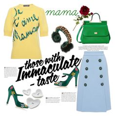 """Viva la mamma"" by naki14 ❤ liked on Polyvore featuring Dolce&Gabbana, Sia, Crate and Barrel, women's clothing, women's fashion, women, female, woman, misses and juniors"